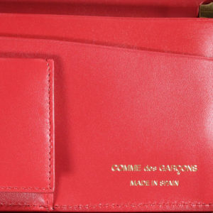 Commes de Garcons Color Plain Leather Wallet Red