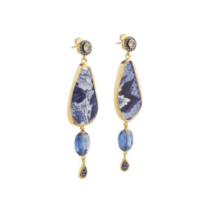 Dolly Boucoyannis Semi Precious Stones Chavorite and Glass Earrings DBE174