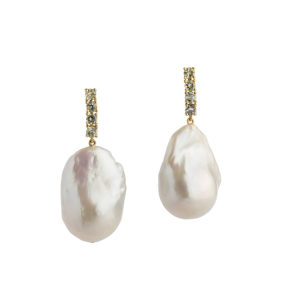 Dolly Boucoyannis Fresh Water Pearls Semi-Precious Stones Gold Earrings DBE160