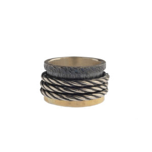 K.AND Sterling Silver and Yellow Gold Ring K3079