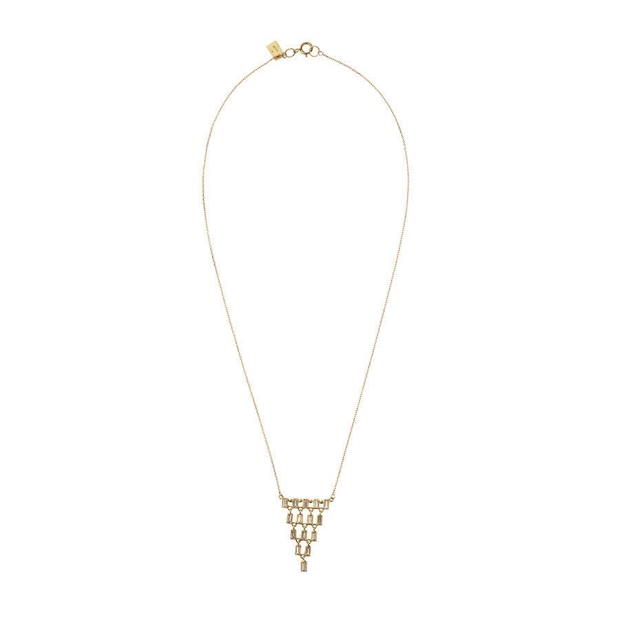 Oona Baguette Cascade Necklace PH09.118