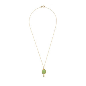 Dolly Boucoyannis Chavorite and Glass Gold Chain DBC79