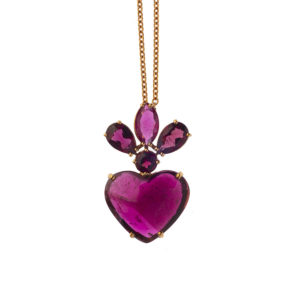 Christina Alexiou Red Tourmaline Heart Pendant PEPG003