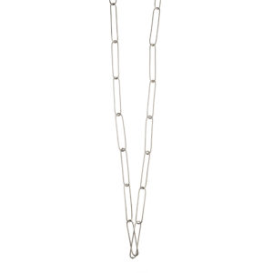 Dolly Boucoyannis Long Silver Paperclip Chain DBCS42