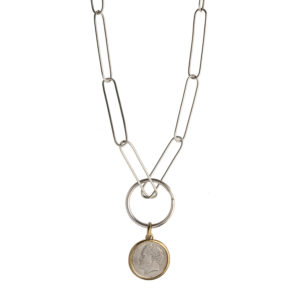 Dolly Boucoyannis Paperclip Chain and Coin Pendant