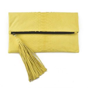 Wings Aphrodite Medium Lemon Yellow Envelope Clutch