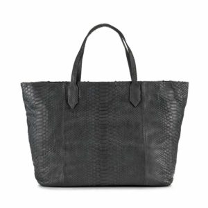 Wing Carla Tote Shoulder Bag Dark Grey