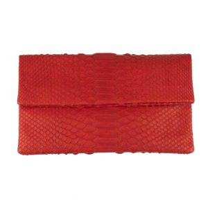 Wings Envelope Medium Red Clutch