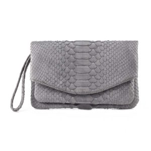Wings Pimento Envelope Grey Clutch