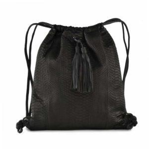 Wings Sandra Tassel Black Backpack