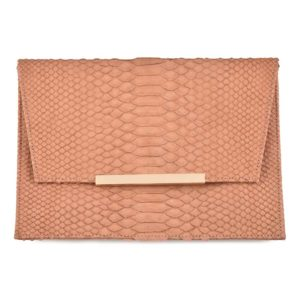 Wings Stick Envelope Clutch Salmon antique