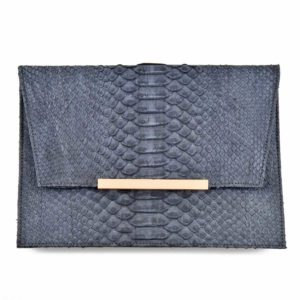 Stick Envelope Clutch Stonewashed Blue