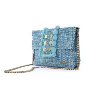 Kooreloo Epiphany Pouch Capulet Aquamarine Fabric Shoulder Bag KRL.7148.80