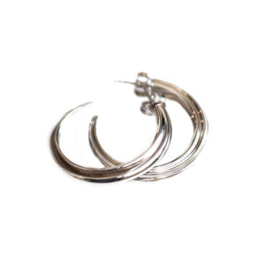 Morphe London Bone Hoops in Silver MLBN08.SVL
