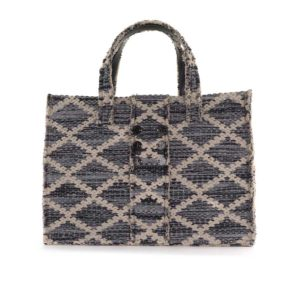 Kooreloo Rhombus Grey Knot Fabric Book Tote KRL.1105.65.2