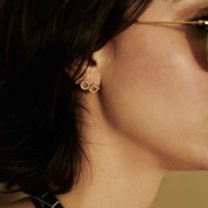 Dolly Boucoyannis Diamonds Single Earring on model DBE26 DBE28 and DBE29