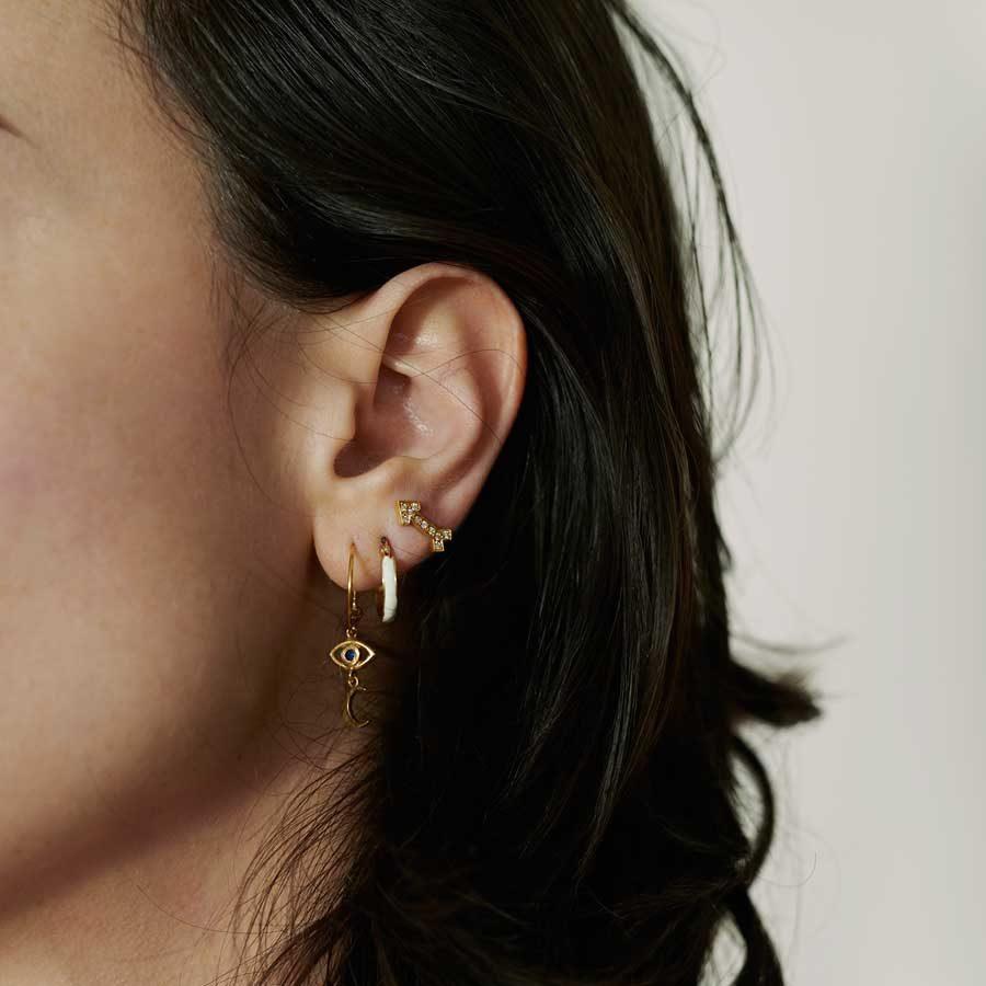 Dolly Boucoyannis and Ileana Makri earrings on model