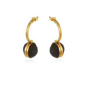 Thania Iordanidou Oval Drop Earrings E602B