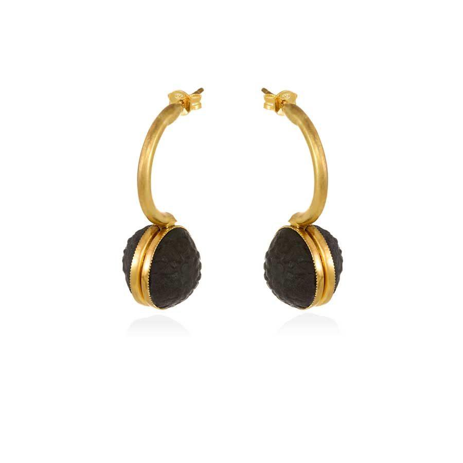 Thania Iordanidou Oval Drop Earrings E602B