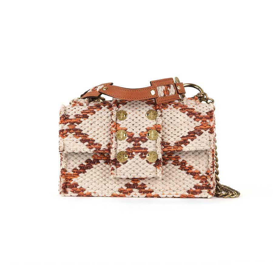 Kooreloo SoHo Rhombus Amber Love Fabric Shoulder Bag KRL.7247.83.1