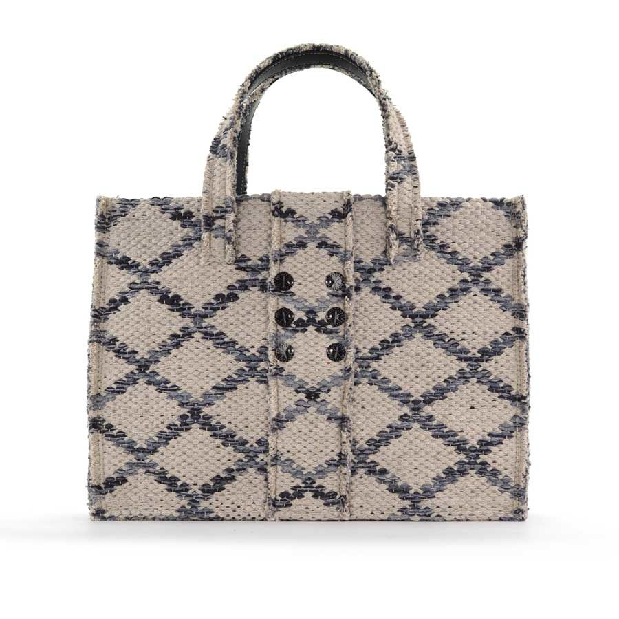 Kooreloo Rhombus Grey Love Fabric Book Tote KRL.1105.65.65.2