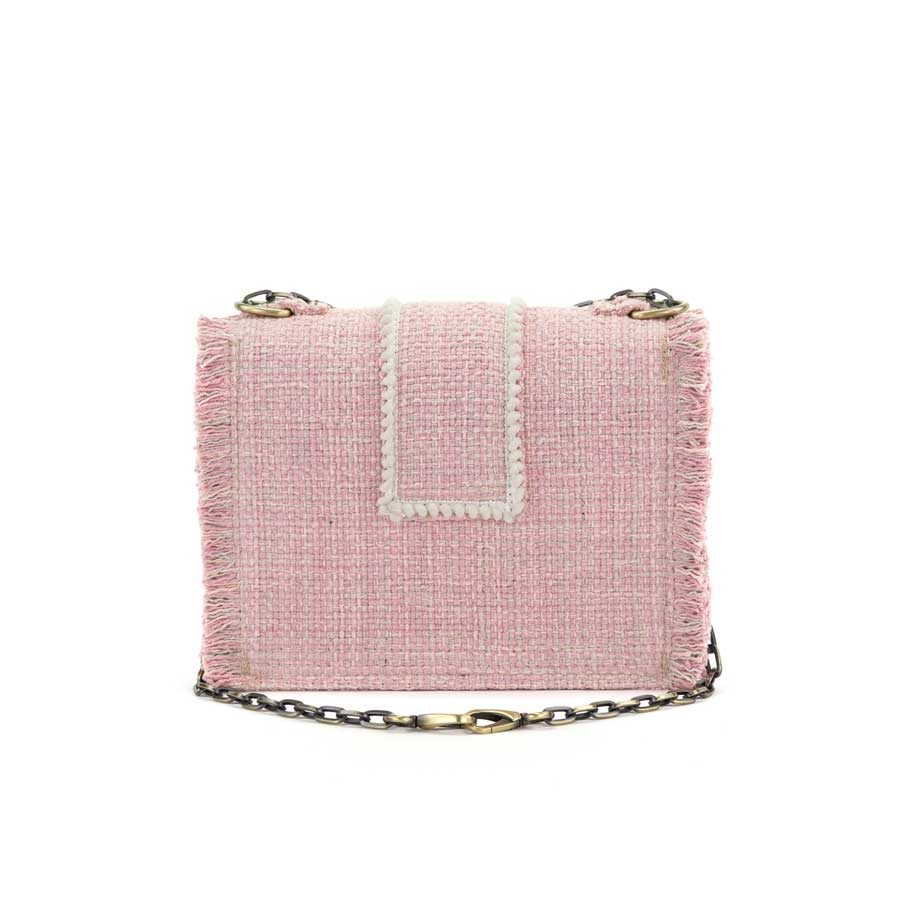 Kooreloo Epiphany Maxima Baby Pink Fabric Shoulder Bag KRL.1100.52