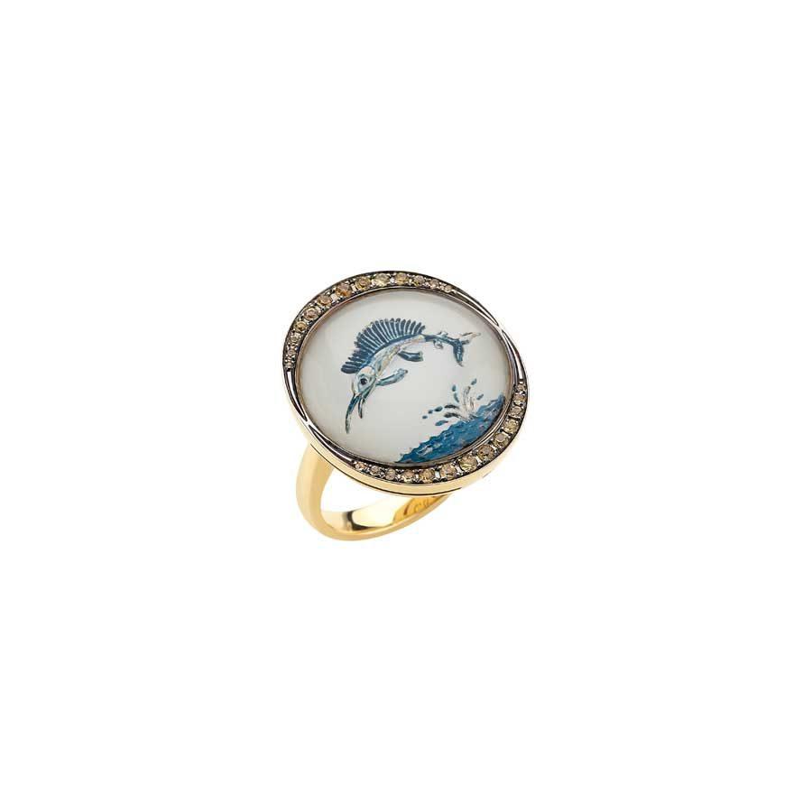 Francesca Villa Being Crystal- Hemingway Ring
