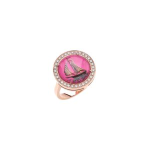 Francesca Villa Being Crystal Pink Wind Ring
