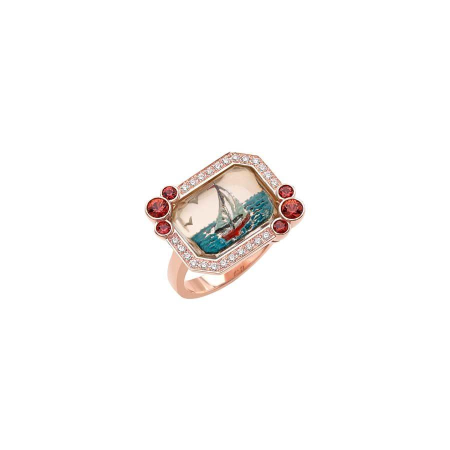 Francesca Villa Being Crystal Saint Tropez Ring