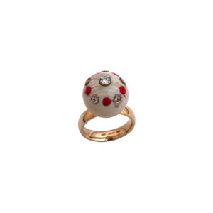 Francesca Villa Red Pois Ring
