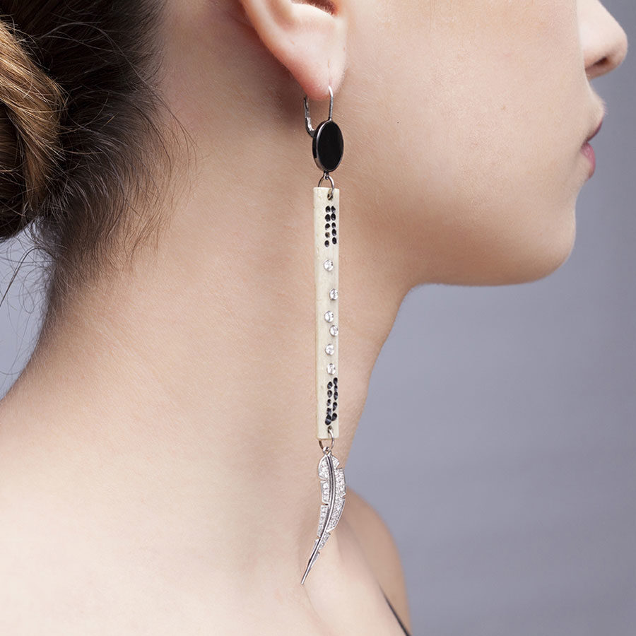 Francesca Villa Piuma d' Angelo Earrings