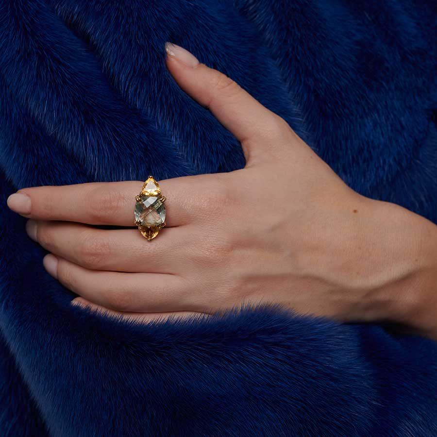 Dolly Boucoyannis Triple Ring on model DBR88
