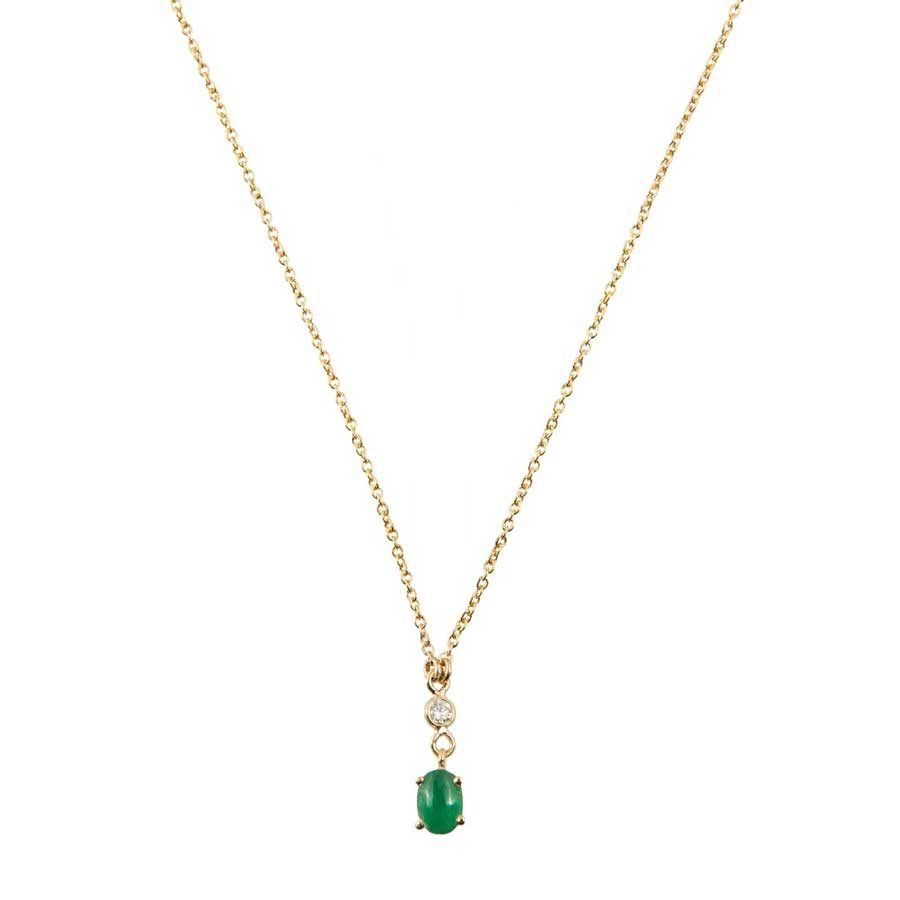 Marlen Ht Gold Diamond and Emerald Necklace MHN1046