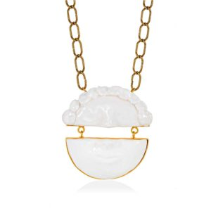 Thania Iordanidou Split Face With Chain Necklace N301