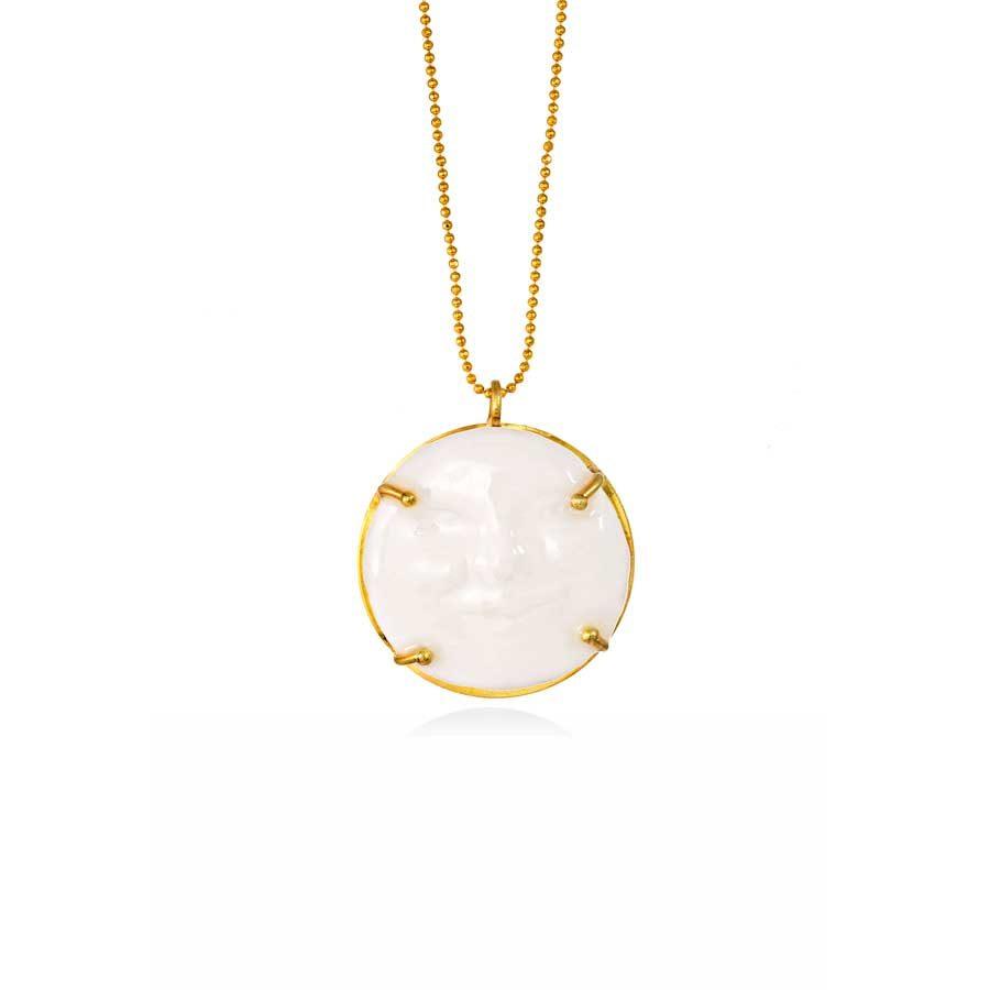 Thania Iordanidou Face Pendant Chain Necklace N303