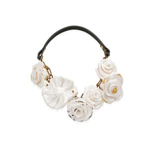 Thania Iordanidou Multi Flower and Face Necklace N502