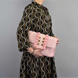 Kooreloo Epiphany Pouch Capulet Baby Pink Fabric Shoulder Bag KRL.7148.52