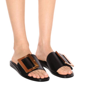 BOYY Embellished Leather Black Sandals