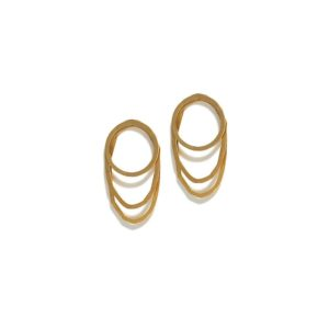 Christiana Kafa Yellow Gold Plated Earrings CHK0819.E.SG