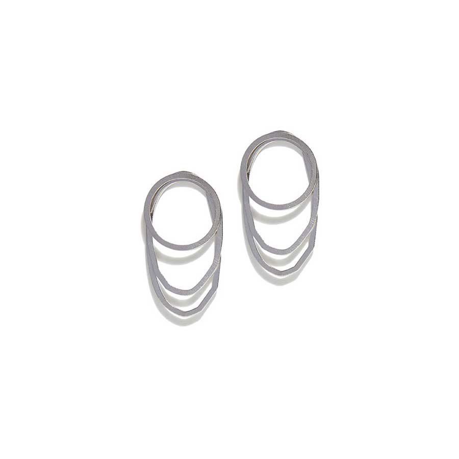 Christiana Kafa White Plated Earrings CHK0819.E.SW