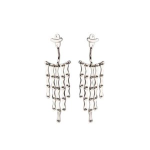 Christiana Kafa White Plated Earrings CHK1318.E.SW