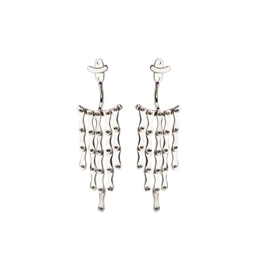 Christiana Kafa White Plated Earrings CHK1318.E.SW
