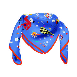 Cyclades Silk Space Scarf Blue