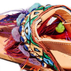 Elina Linardaki Dizzy Parrot Sandals