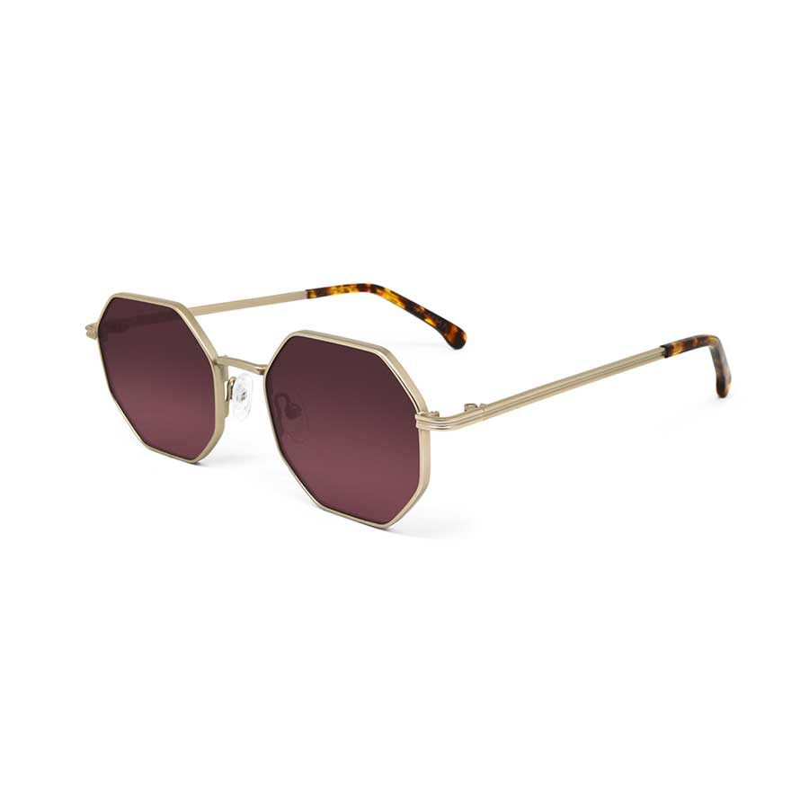 We Are Eyes Gamma Gold Sunglasses Pink Lenses