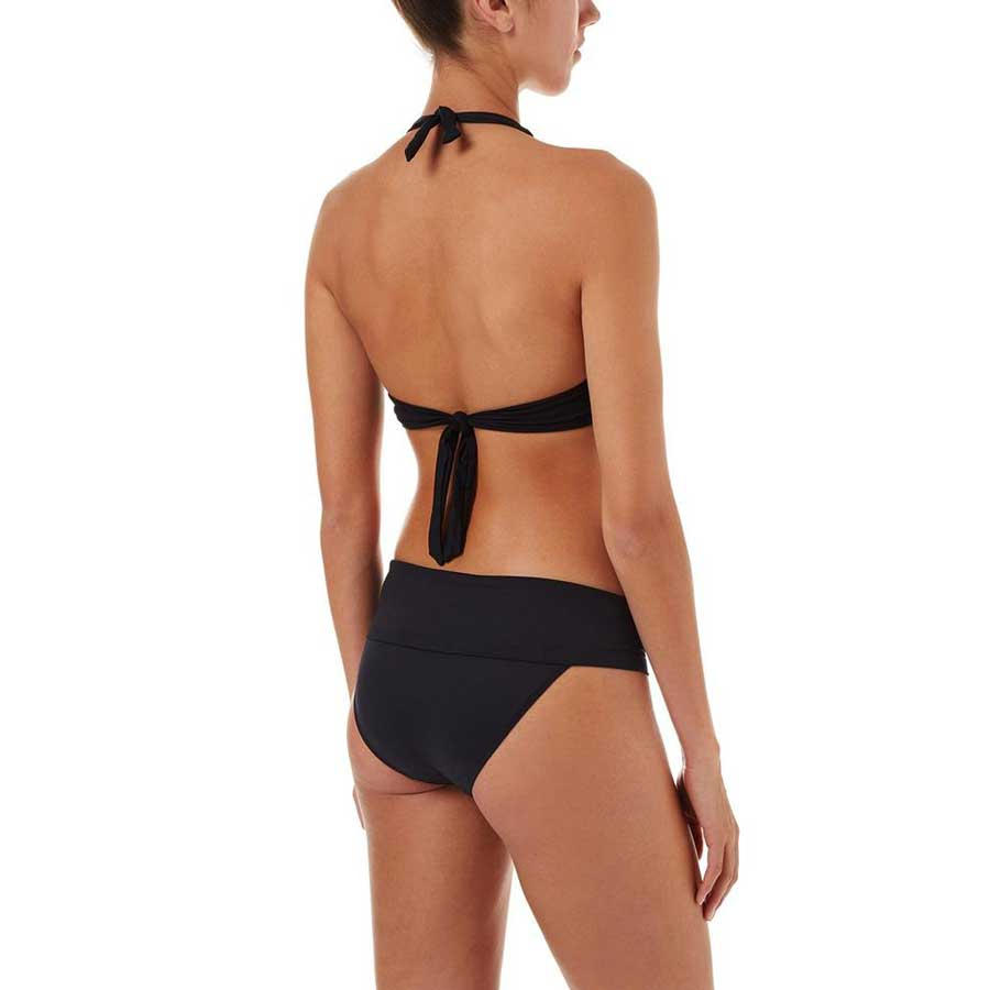 3b88b7560eb Melissa Odabash Brussels Black Halterneck Ring Supportive Bikini