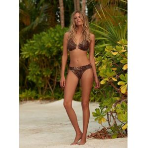 Melissa Odabash Brussels Cheetah Hatlerneck Ring Supportive Bikini