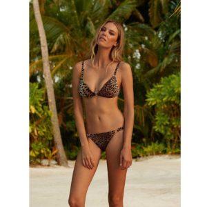 Melissa Odabash Montenegro Cheetah Bralette Ring Bikini