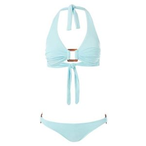 Melissa Odabash Paris Sky Halterneck Rectangle Trim Bikini