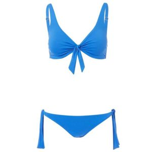 Melissa Odabash San Juan Cobalt Over the Shoulder Knot Supportive Bikini